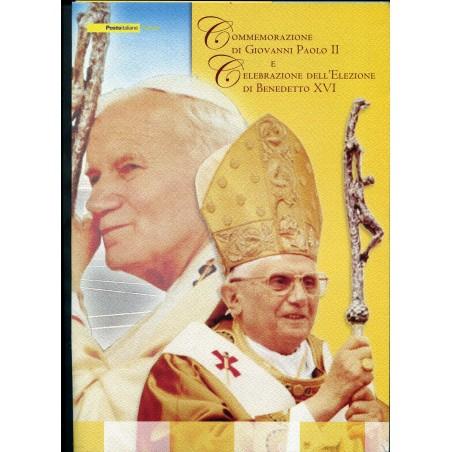 2005 Italia Repubblica Folder delle Poste Italiane Commemorazione Giovanni Paolo II°