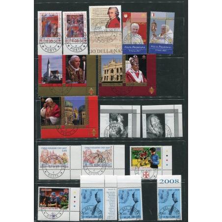 2004/2015 Vaticano lotto di francobolli annullati dalle poste Vaticane.