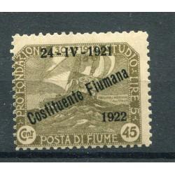 1921 Fiume c.45 verde n.168...
