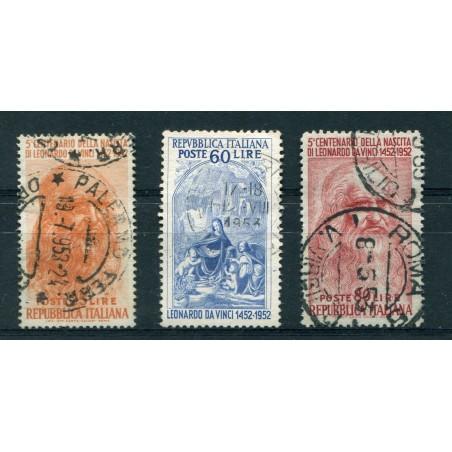 1952 ITALIA 5° CENTENARIO NASCITA LEONARDO DA VINCI USATO GNT842