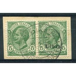 1912/15 Libia c.5 verde in...