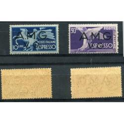 PNT113  1947  TRIESTE ZONA A  POSTA AEREA  A1/6  MNH CAT.135.00