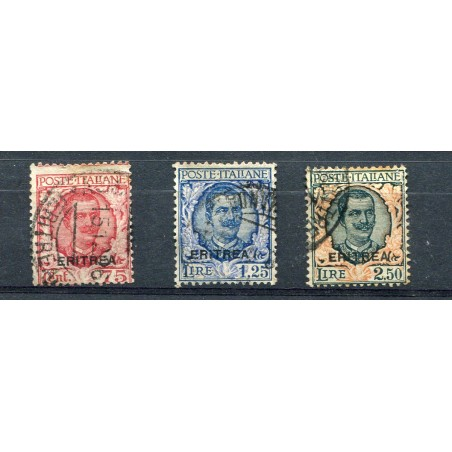 1926 Eritrea soprastampati n.113/15 cat. 175 usati