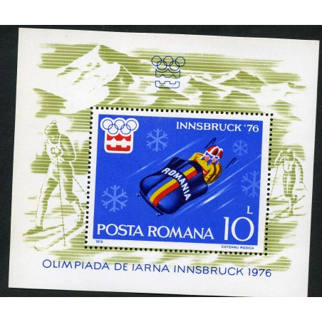 1976 Romania Olimpiadi Innbruk Bf. n. 123 mnh