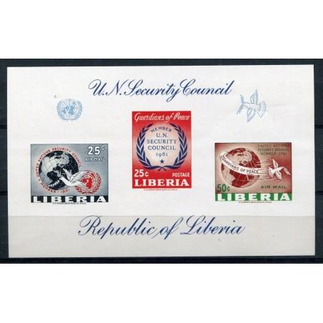 1961 LIBERIA U.N. SECURITY COUNCIL SHEET NON DENT. MNH AL326