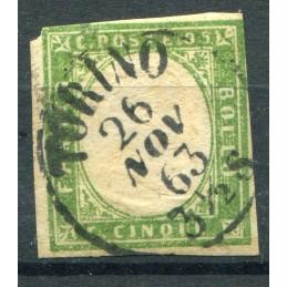1855 Sardegna C.5 n. 13 usato