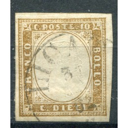 1855 Sardegna c. 10 n.14 usato