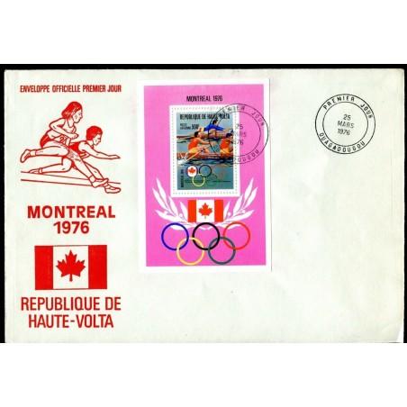 1976 REPUBLIQUE DE HAUTE - VOLTA MONTREAL 76' N.2 COVERS  F001