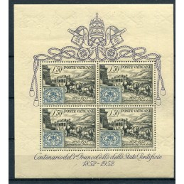 1952 Vaticano BF. n.1 100°...