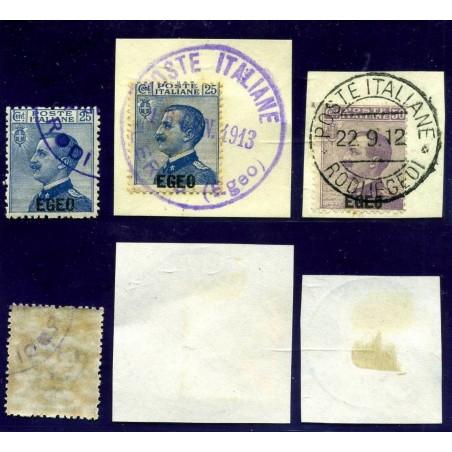 AL741 1912 EGEO VITT. EMANUELE C. 25 E C. 50 N° 1/2