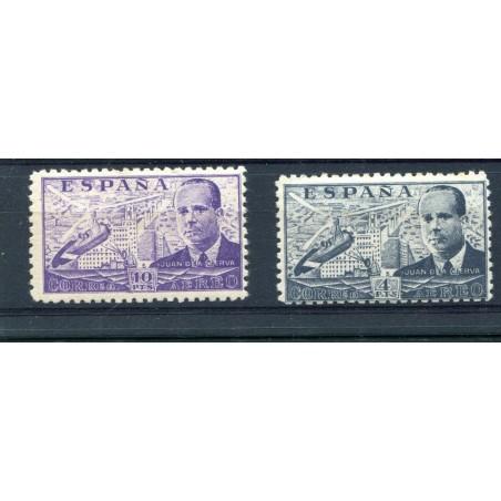1941 SPAGNA JUAN DE LA CIERNA P.A. A/223 - A/223A MNH EUSA053