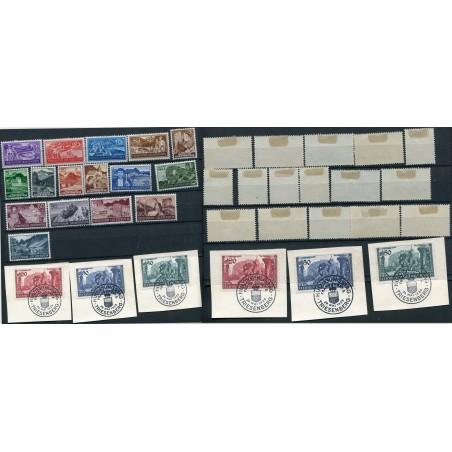 1937/39 Lichtenstein piccolo lotto di francobolli mh - usati