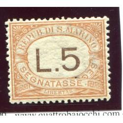 1924 SAN MARINO £.5 N.26...