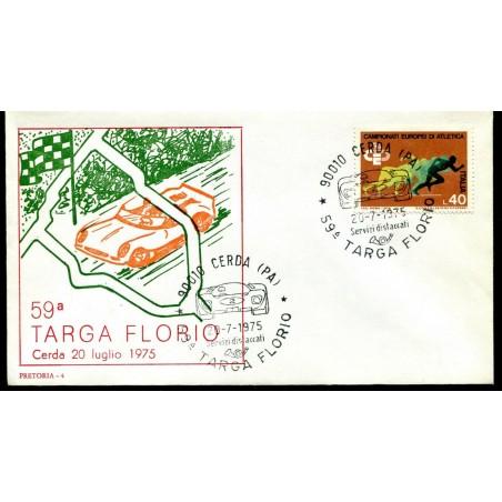 1975 ITALIA 59° TARGA FLORIO FDC CON ANNULLO SPRCIALE  USATO MNT605