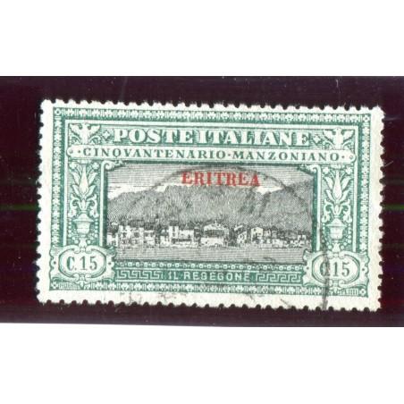 1924 ITALIA ERITREA MANZONI C.15 CAT.100   USATO MNT549