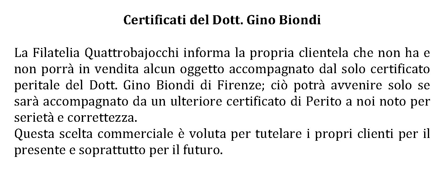 Certificati Biondi
